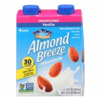 Almond Breeze - Almond Milk - Unsweetened Vanilla - Case of 6 - 4/8 oz. - Case of 6 - 4/8 OZ each