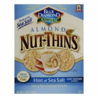 Blue Diamond Almonds Mini Nut Thins Rice Crackers Hint of Sea Saly, 4.4oz (Pack of 6)