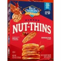 Blue Diamond Almonds Nut Thins Rice Crackers Sriracha, 4.25oz (Pack of 6)