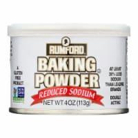 Rumford Baking Powder - Reduced Sodium - Case of 24 - 4 oz.