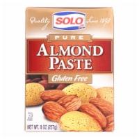 Solo Pure Almond Paste  - Case of 6 - 8 OZ - Case of 6 - 8 OZ each