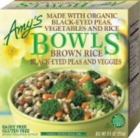 Amy's Vegetarian, Brown Rice, Black Eyed Peas & Veggies Bowl, 9 oz. (12 Count) - 12 Count
