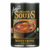 Amy's - Organic Low Fat Minestrone Soup - Case of 12 - 14.1 oz - 14.1 OZ