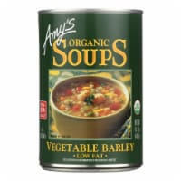 Amy's - Organic Low Fat Vegetable Barley Soup - Case of 12 - 14.1 oz - 14.1 OZ