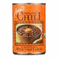 Amy's - Organic Medium Chili with Veggies - Case of 12 - 14.7 oz