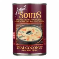 Amy's - Soup - Tom Kha Phak Thai Coconut - Case of 12 - 14.1 oz - 14.1 OZ