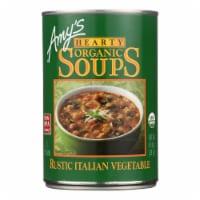 Amy's - Organic Soup - Vegetarian Hearty Italian - Case of 12 - 14 oz
