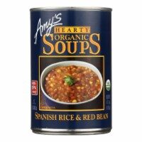 Amy's - Organic Spanish Rice & Red Bean Soup - Case of 12 - 14.7 oz - 14.7 OZ