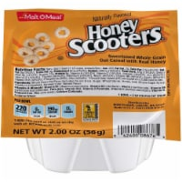 Malt O Meal Honey Nut Scooters Sweetened Whole Grain Oat Cereal, 2 Ounce -- 48 per case.