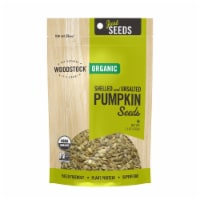Woodstock Organic Shelled and Unsalted Pumpkin Seeds - Case of 8 - 11 OZ - 11 OZ