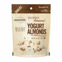 Woodstock Yogurt Almonds - Case of 8 - 8.5 OZ - 8.5 OZ