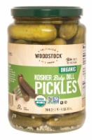 Woodstock Organic Kosher Baby Dill Pickles - Case of 6 - 24 OZ - Case of 6 - 24 OZ each