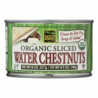 Native Forest Organic Sliced Water Chestnuts - Case of 6 - 8 OZ - Case of 6 - 8 OZ each