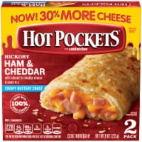 Hot Pockets Hickory Ham & Cheddar Crispy Buttery Crust Sandwiches Case (8 Pack) - 2 ct / 9 oz