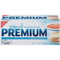 Kraft Nabisco Premium Original Saltine Cracker, 16 Ounce -- 12 per case.