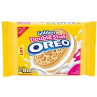 Oreo Golden Double Stuff Sandwich Cookies, 15.25 Ounce -- 12 per case.