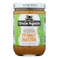Once Again - Peanut Butter Organic Crunch - Case of 6-16 OZ - Case of 6 - 16 OZ each