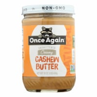 Once Again - Cashew Butter Ns - Case of 6-16 OZ - Case of 6 - 16 OZ each