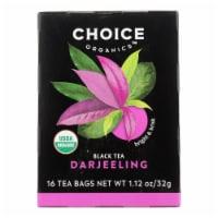 Choice Organic Teas Darjeeling Tea - 16 Tea Bags - Case of 6