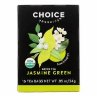 Choice Organic Teas Jasmine Green Tea - 16 Tea Bags - Case of 6