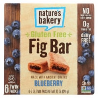 Nature's Bakery Gluten Free Fig Bar - Blueberry - Case of 6 - 2 oz. - Case of 6 - 6/2 OZ each