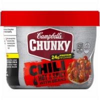 Campbell's Chunky Hot & Spicy Chili with Beans Microwavable Bowls 8 Count