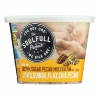 The Soulfull Project Hot Cereal Brown Sugar Pecan  - Case of 6 - 2.15 OZ - Case of 6 - 2.15 OZ each