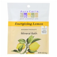Aura Cacia - Aromatherapy Mineral Bath Energizing Lemon - 2.5 oz - Case of 6 - Case of 6 - 2.5 OZ each