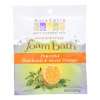Aura Cacia - Foam Bath Peaceful Patchouli and Sweet Orange - 2.5 oz - Case of 6