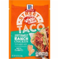 McCormick Street Taco Southwest Ranch Chicken Seasoning Mix 12 Count