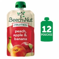 Beech-Nut Fruit on the Go Peach Apple Bananan Baby Food Pouches