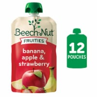 Beech-Nut Fruities Banana Apple Strawberry Stage 2 Baby Food
