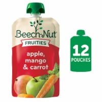 Beech-Nut Fruities Apple Mango & Carrot Puree Stage 2 Baby Food Pouch
