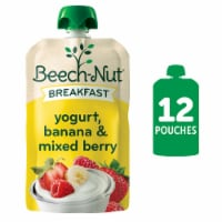 Beech-Nut Breakfast Yogurt Banana & Mixed Berry Stage 4 Baby Food Pouches 12 Count