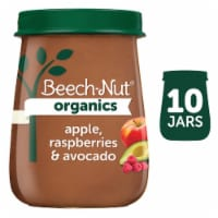 Beech-Nut Organics Apple Raspberries & Avocado Stage 2 Baby Food 10 Count