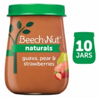 Beech-Nut Naturals Guava Pear & Strawberries Stage 2 Baby Food 10 Count