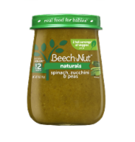 Beech-Nut Naturals Spinach Zucchini & Peas Stage 2 Baby Food