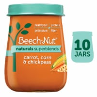 Beech-Nut Naturals Superblends Carrot Corn & Chickpeas Stage 3 Baby Food - 10 ct / 4 oz