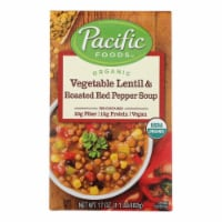 Pacific Natural Foods Soup - Vegetable Lentil and Roasted Red Pepper - Case of 12 - 17 oz. - 17 OZ