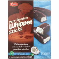 Dare Pure Chocolate Whippet Sticks Coconut Cookies  8.8OZ (Pack of 12) - 12