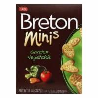 Dare Breton Crackers Minis Garden Vegetable, 8 OZ (Pack of 12)