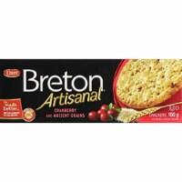 Dare Breton Artisanal Cranberry Grains  Crackers Roasted Garlic, 5.29oz (Pack of 6)
