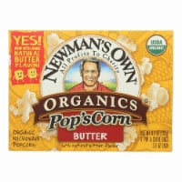 Newman's Own Organics - Butter Microwave Popcorn - Case of 12 - 3/3.3 oz - 3/3.3 OZ