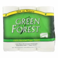 Green Forest Premium Paper Towels - White - Case of 10 - 3 Roll