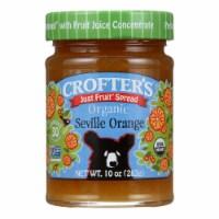 Crofters Fruit Spread - Organic - Just Fruit - Seville Orange - 10 oz - case of 6 - Case of 6 - 10 OZ each
