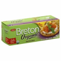 Dare Breton Organic  Crackers Roasted Garlic, 5.29oz (Pack of 6)