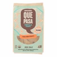 Que Pasa - Tort Chip Thin Sea Salt - Case of 12 - 10 OZ - 10 OZ
