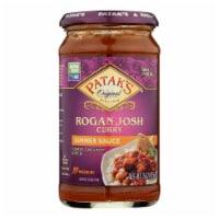 Pataks Simmer Sauce - Rogan Josh Curry - Medium - 15 oz - case of 6 - Case of 6 - 15 OZ each