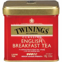 Twinings of London Classics English Breakfast Loose Tea 3.53 Oz Tin (Pack of 6) - 6