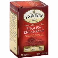 Twinings of London Classics English Breakfast Medium Tea Bags 20 Ct (Pack of 6) - 6